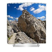 hike in Dolomites Shower Curtain