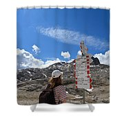 Hiker Find The Way Shower Curtain