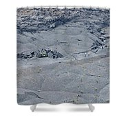 Hikers On The Floor Of The Klauea Iki Shower Curtain