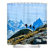 Hiking Above Chamonix On The Lac Blanc Trail Shower Curtain