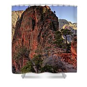 Hiking Angels Shower Curtain by Chad Dutson