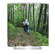 Hiking Group Shower Curtain