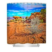 Hiking In Canyonlands Shower Curtain