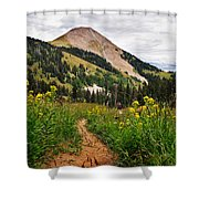Hiking In La Sal Shower Curtain