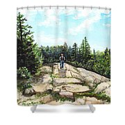 Hiking In Maine Shower Curtain