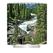 Hiking In Mistaya Canyon Along Icefield Parkway In Alberta Shower Curtain