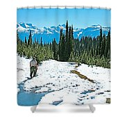 Hiking In Spring In Revelstoke National Park-british Columbia  Shower Curtain