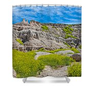 Hiking In The Badlands Shower Curtain