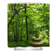 Hiking Trails To Mont Morency Falls Shower Curtain