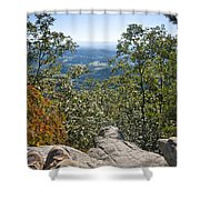 Hiking View Shower Curtain
