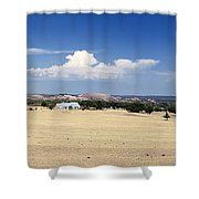 Hill Country And Enchanted Rock Panorama Shower Curtain