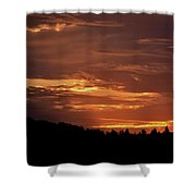 Hill Country Sunrise Shower Curtain