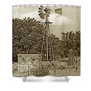 Hill Country Windmill Shower Curtain