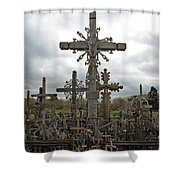 Hill Of Crosses 06. Lithuania.  Shower Curtain