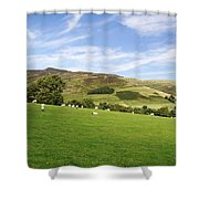 Hill Range North Of Edale Shower Curtain