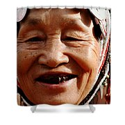 Hill Tribe Smile Shower Curtain
