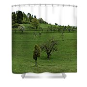 Hills And Fields Shower Curtain