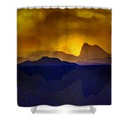 Hills In The Distance At Sunset Shower Curtain