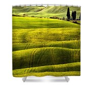 Hills Of Toscany Shower Curtain