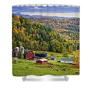 Hillside Acres Farm Shower Curtain