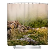 Hillside Haze Shower Curtain