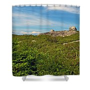 Hillside View Of Swissair Flight 111 Memorial In Whalesback-ns Shower Curtain