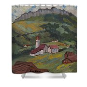 Hilltop Village Switzerland Shower Curtain