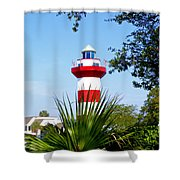 Hilton Head Lighthouse And Palmetto Shower Curtain