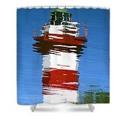 Hilton Head Lighthouse Reflection Shower Curtain