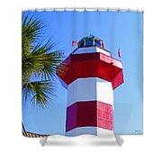 Hilton Head Lighthouse Upclose Shower Curtain