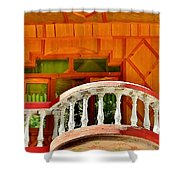 A Beautiful Balcony - Himalaya India Shower Curtain