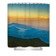 Himalayan Mountains View From Mt. Shivapuri Shower Curtain