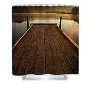 Hinckley Lake Sunrise Shower Curtain