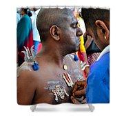 Hindu Devotees Prepare For Thaipusam Festival Singapore Shower Curtain