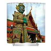 Hindu Figure At Grand Palace Of Thailand In Bangkok Shower Curtain