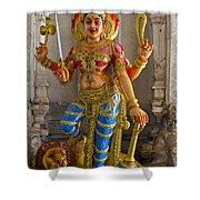 Hindu Goddess Durga On Lion Shower Curtain