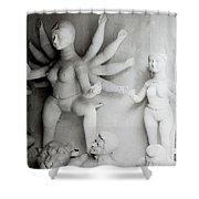 Hindu Sculpture Shower Curtain