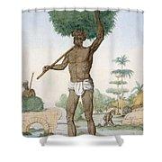 Hindu Servant Cutting Grass, The Shower Curtain