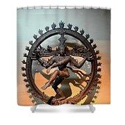 Hindu Statue Of Shiva In Nataraja Dance Pose Shower Curtain