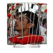Hindu Thaipusam Festival Pierced Devotee In Singapore Shower Curtain