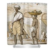 Hindu Valet Or Buyer Of Food, From The Shower Curtain