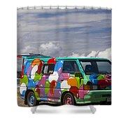 Hippie Man Van Shower Curtain