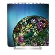 Hippies' Planet 2 Shower Curtain