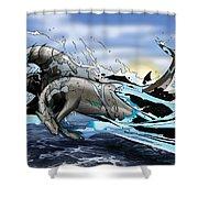 Hippocampi Shower Curtain