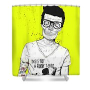 Hipsters Not Dead Shower Curtain