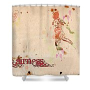 His Airness - Michael Jordan Shower Curtain by Paulette B Wright