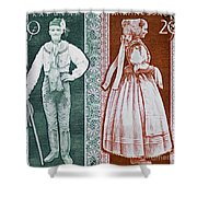 His And Hers Traditional Costumes Shower Curtain