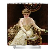 His Fortune Shower Curtain by English School
