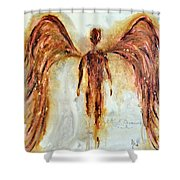 His Promise Shower Curtain by Ivan Guaderrama