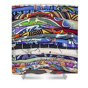His Tshirt Collection Shower Curtain